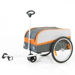 Cykelvagn SunBee Transporter - Orange/Grå