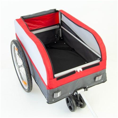 DEMOEX - Cykelvagn SunBee Transporter - Röd/Grå