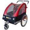 Cykelvagn SunBee Cruiser m. barnvagnskit - Röd/Svart