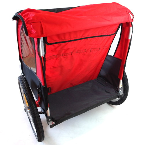 Cykelvagn SunBee Cruiser Barnvagnskit/Stroller - Svart/Röd
