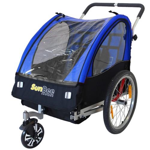 Cykelvagn SunBee Cruiser Barnvagnskit/Stroller - Svart/Blå