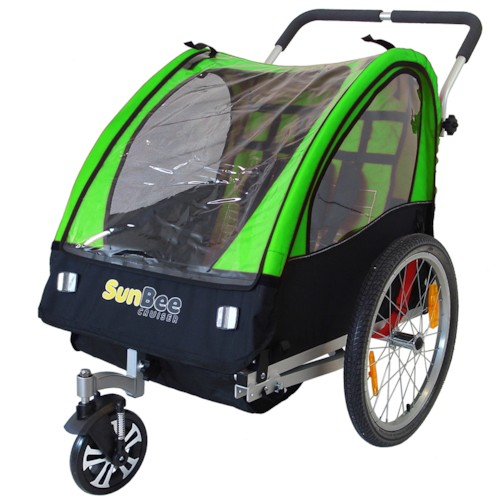 Cykelvagn SunBee Cruiser Barnvagnskit/Stroller - Svart/Grön