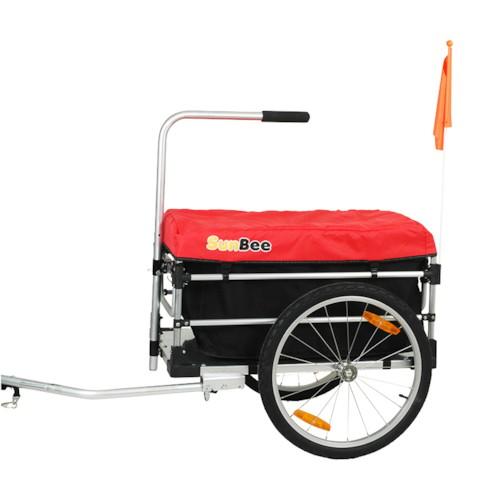 Cykelvagn Lastvagn SunBee Montana Plus - Grön/Svart