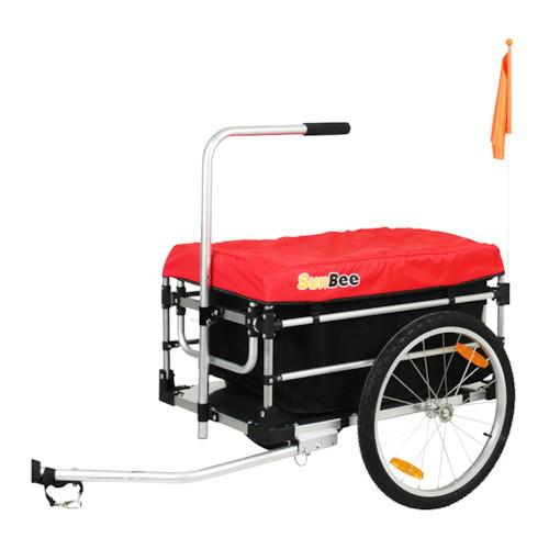 Cykelvagn Lastvagn SunBee Montana Plus - Röd/Svart