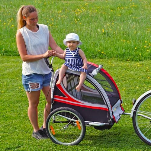 SunBee Promenad PLUS m. barnvagnskit - Svart/Röd