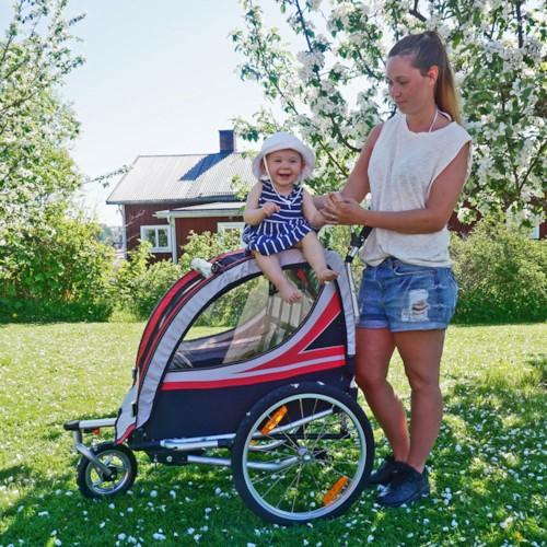 SunBee Promenad PLUS m. barnvagnskit - Svart/Grön