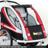 Cykelvagn SunBee Supreme XL Barnvagnskit/Stroller - Svart/Röd