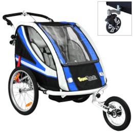 Cykelvagn SunBee Supreme XL Barnvagnskit/Stroller - Svart/Blå