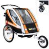 Cykelvagn SunBee Supreme XL Barnvagnskit/Stroller - Svart/Orange