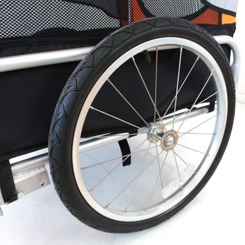 Cykelvagn SunBee Tassen, för husdjur V2 - Orange/Grå