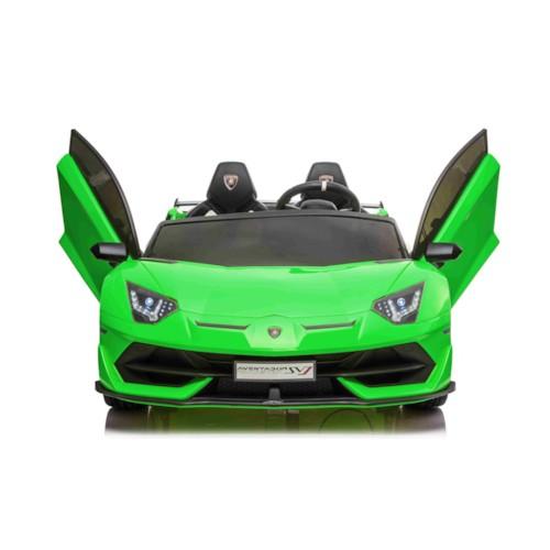 Elbil Lamborghini Aventador SVJ - Grön