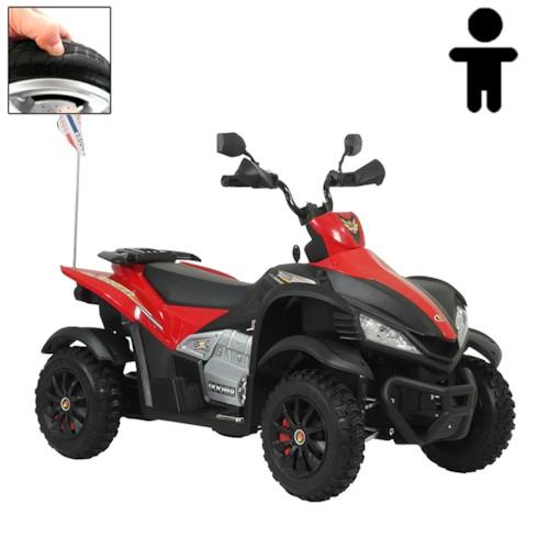 Elbil fyrhjuling SWE-AM 12V - Svart/Röd