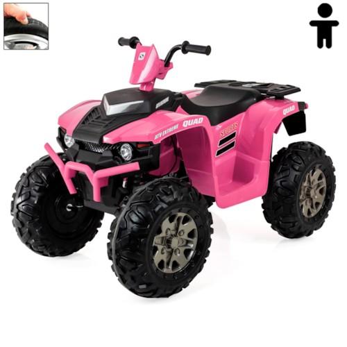 Elbil fyrhjuling Avenger 12V - Rosa