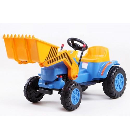 Elbil Traktor 6V m. skopa - Blå