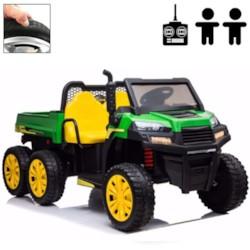 Elbil barn Truckster 4WD tvåsits 12V - Grön