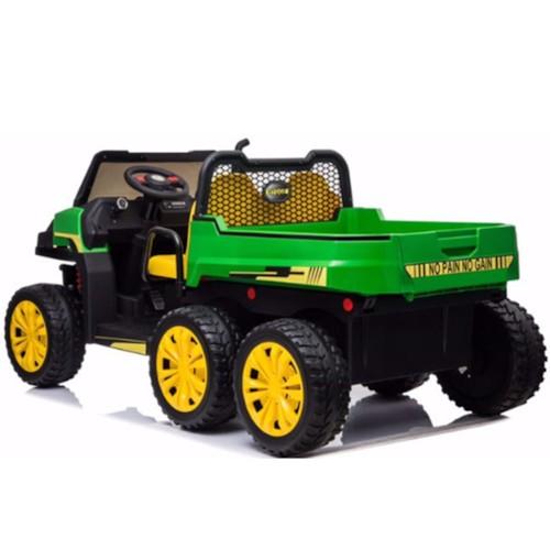 Elbil Truckster 4WD tvåsits 12V - Grön-Grå