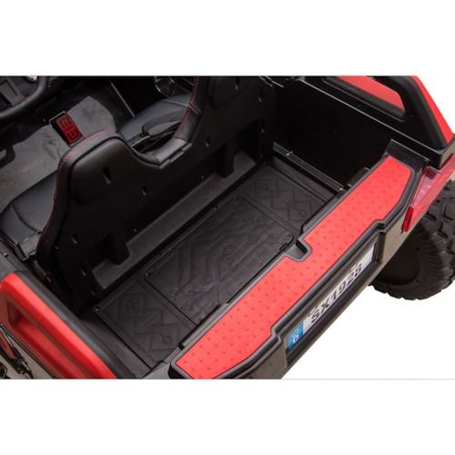 FYNDEX - Elbil UTV Quad 4x4 tvåsits  12V - Röd