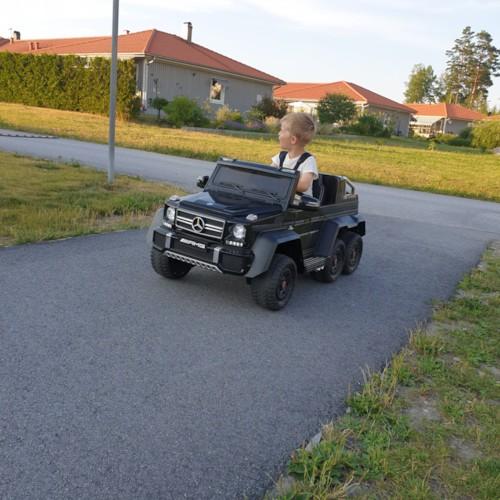 Elbil Mercedes G63 6x6 12V - Svart