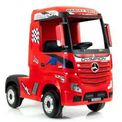 Elbil Lastbil Mercedes Actros 4WD - Röd