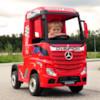 FYNDEX - Elbil Lastbil Mercedes Actros 4WD - Röd