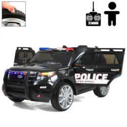 Elbil POLICE FORCE 12V - Svart