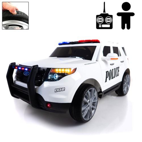 Elbil POLICE FORCE 12V - Vit
