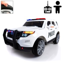 FYNDEX - Elbil POLICE FORCE 12V - Vit