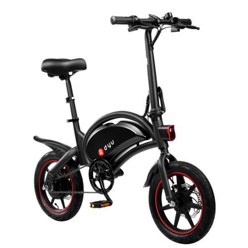 Elscooter/Elcykel DYU D3F - Svart