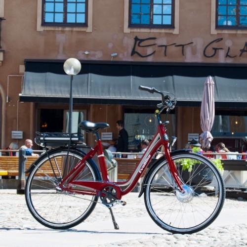 HUVUDLÅDA EvoBike ECO-7 250W 2020 - Röd, dam