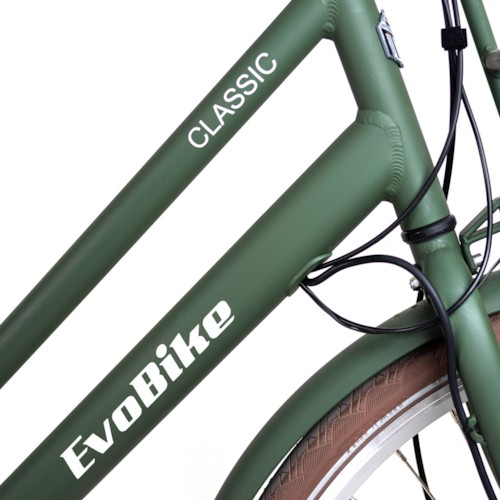 HUVUDLÅDA EvoBike CLASSIC-7 250W 2020 - Matt olivgrön, dam