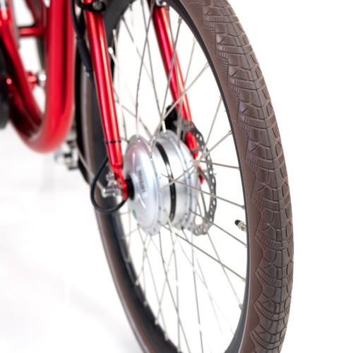 FYNDEX  - Elcykel Trehjulig Elcykel Evobike Elegant 24 tum 250W 2021 - Röd