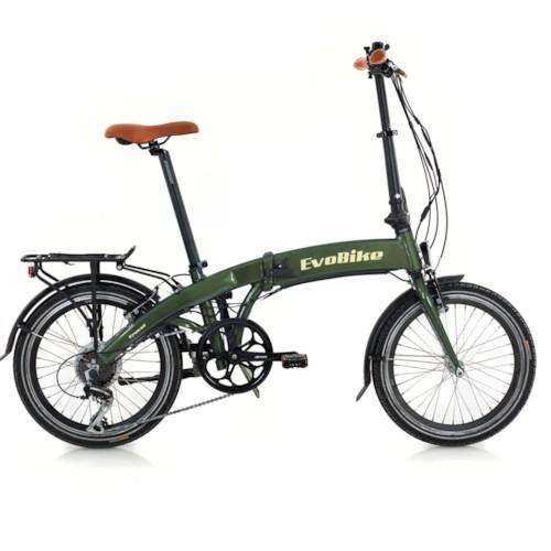 Elcykel EvoBike Travel, Hopfällbar - Matt olivgrön