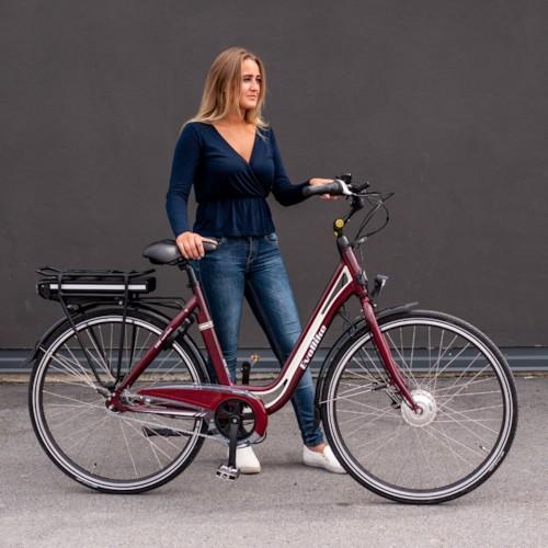Elcykel EvoBike ECO-3 250W 2020 - Röd, dam