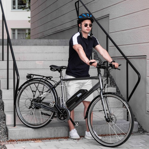 Elcykel EvoBike SPORT-8 500W 2020 - Blå, herr