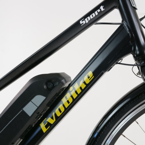 Elcykel EvoBike SPORT-8 Mid-Drive 250W 2020 - Svart, dam