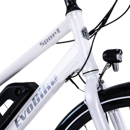Elcykel EvoBike Sport-8 250W 2021 - Vit, Dam