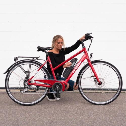 Elcykel EvoBike Sport-8 Mid-Drive 250W 2021 - Röd, Dam