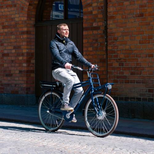 Elcykel EvoBike Classic-7 250W 2021 - Blå, Herr