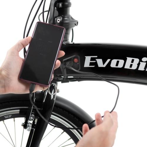 Elcykel EvoBike Travel Long Range 2021, Hopfällbar - Svart