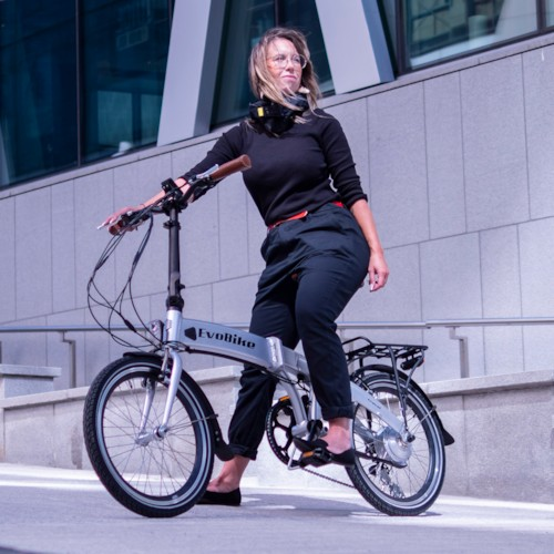 Elcykel EvoBike Travel 2021, Hopfällbar - Silver