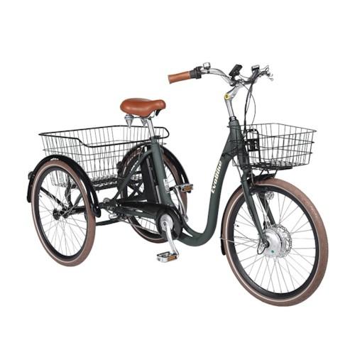 Elcykel Trehjulig Elcykel Evobike Elegant 24 tum 250W 2021 - Olivgrön