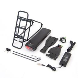Lithiumbatteripaket elcykel, 36V 10,4Ah Samsung inkl. pakethållare och laddare