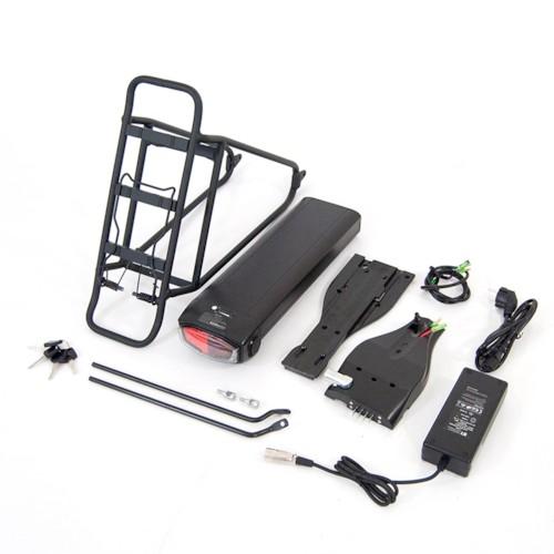 Lithiumbatteripaket elcykel, 48V 10,4Ah Samsung inkl. pakethållare och laddare