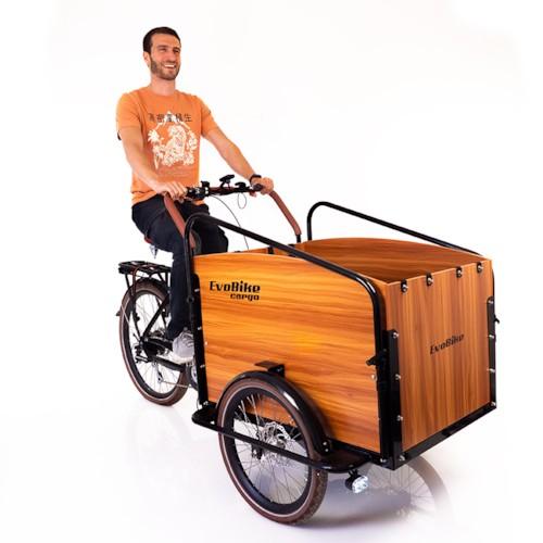 Huvudlåda - Lådcykel EvoBike Cargo PRO - Natural