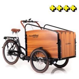 FYNDEX -Lådcykel EvoBike Cargo PRO - Natural 2020