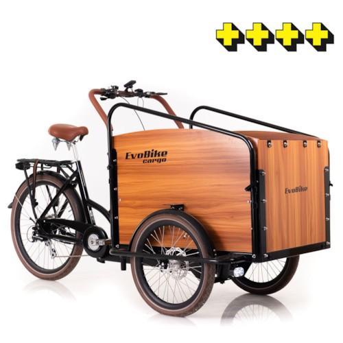 Elcykel Lådcykel Evobike Cargo PRO - Natural wood - 2020