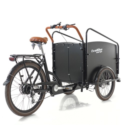 Elcykel Lådcykel Evobike Cargo PRO - Darkwood