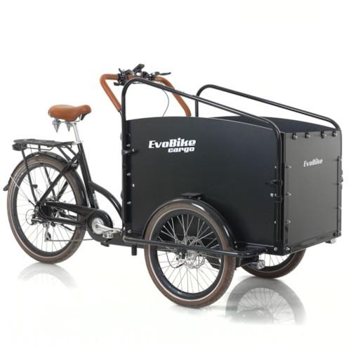 Elcykel Lådcykel Evobike Cargo PRO 630Wh - Darkwood
