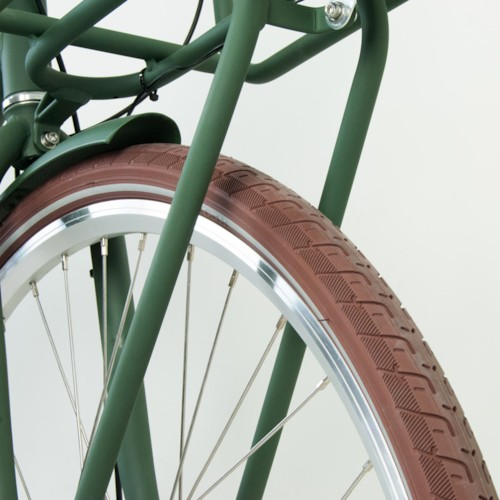 Elcykel EvoBike Classic-3 Long Range 2021 - Olivgrön, Dam