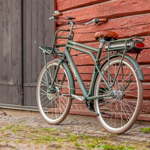 Elcykel EvoBike Classic-3 Long Range 2021 - Olivgrön, Herr